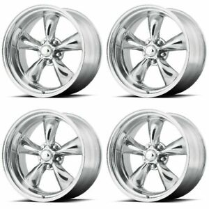 Set 4 17 Torq Thrust Ii Vn515 Polished Classic Rims 17x7 5x4 75 0mm Chevy 5 Lug
