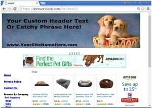 Turnkey Pet Supply Store Website For Sale Free Domain install bonuses Plus More