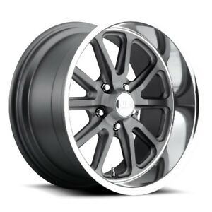 22x11 Us Mag U111 5x5 0 Et18 Matte Gunmetal Rims Set Of 4