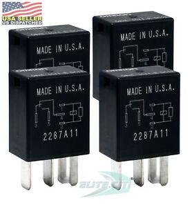 Omron High Current 40a 12v Automotive 5 Pin Relay Micro Pack Of 4