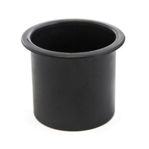 Black Plastic Cup Holder Boat Rv Car Truck Inserts Universal Size