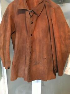 Vintage Elliott Glove Co Leather Welding Jacket Motorcycle Medium
