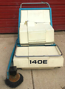 Tennant 140 e Walk Behind Automatic Power Sweeper Watch Video Free Ship