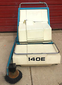 Tennant 140 e Nobles Scout 37b Walk Behind Auto Power Sweeper Watchvideofreeship