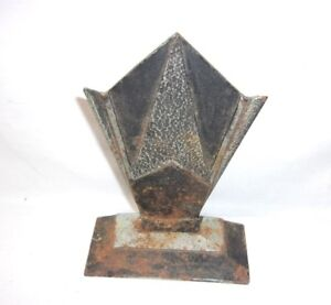 Art Deco Style Design Antique Vintage Metal Bookend T