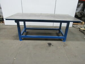 H d 1 4 Thick Top Steel Fabrication Layout Welding Table Work Bench 96 X 48