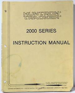 Huntron Tracker 2000 Series Instruction Manual Free Priority Shipping
