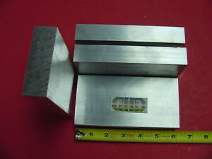 4 Pieces 1 X 3 Aluminum 6061 Flat Bar 6 Long T6511 Solid New Mill Plate Stock