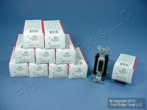 10 Pass And Seymour Brown 4 way Commercial Toggle Wall Light Switches 15a 664