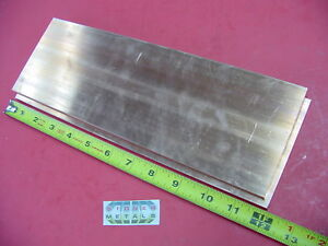 2 Pieces 1 4 x 4 C110 Copper Bar 12 Long Solid Flat Bar 25x 4 Bus Bar Stock