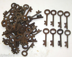 Iron Skeleton Keys Lot Of 50