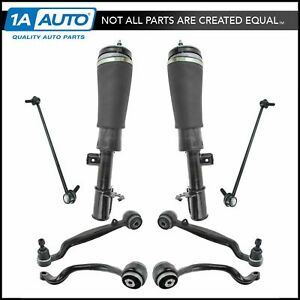 8 Piece Suspension Kit Control Arms Air Shock Sway Bar Links For Range Rover