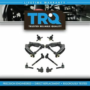 10 Piece Steering Suspension Kit Control Arms Ball Joints Tie Rod Ends New