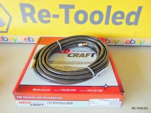 Miller Weldcraft 57y03 Tig Power Cable Rubber 25 Ft 7 6m New Replacement