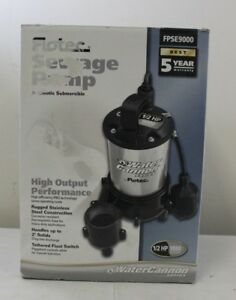 Flotec Fpse9000 1 2 Hp Water Canon Series Submersible Sewage Pump 26757 D