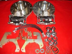 1949 1954 Chevrolet Car Belair Front Disc Brake Conversion Drilled Slotted Rotor