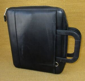 Monarch folio 1 25 Rings Black Leather Franklin Covey Zip Planner binder