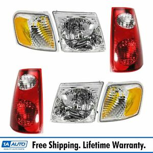 Headlight Parking Marker Tail Light Lamp Set Of 6 For 01 05 Explorer Sport Trac
