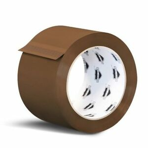 240 Rolls Brown Tan Carton Sealing Packing Tape Shipping 3 inch X 110 Yards 2