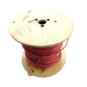 1250 Cme Wire Cable Model E95989 Red Solid Copper Wire Spool 10 Awg 600v