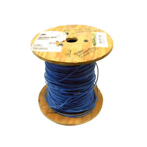 775 New Essex 12 Awg Blue Industrial Copper Wire Spool 19 Strands 600v