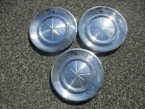 Lot Of 3 Genuine 1960 Lincoln Continental Mark Hubcaps Wheel Covers