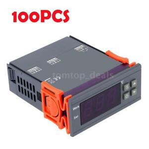 100pcs Digital Temperature Control Controller 90 250v 110v 10a Thermostat