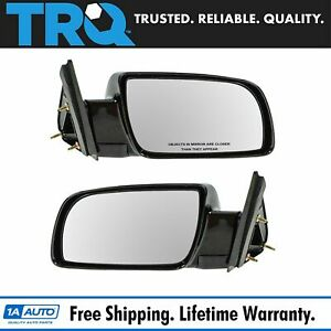 Manual Black Side Mirrors Left Lh Right Rh Pair Set Of 2 For Pickup Truck