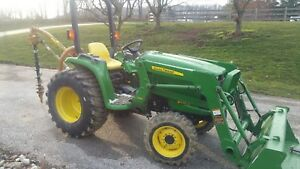 2011 John Deere 3038e Tractor Loader 4wd 38 Hp 4x4 Diesel With 368 Hours