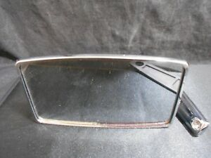 Vintage Car Truck Side Mirror Chrome Square Ford W Mounting Bracket Arm Nos