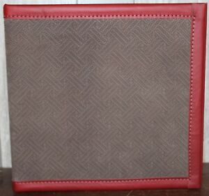 Chocolate Basketweave Embossed Nubuck Leather 2 1 2 3 Rings Binder