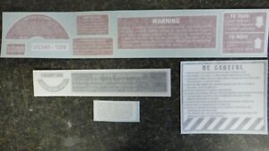 International Farmall 706 806 1206 Chassis Decal Set Vinyl See Details