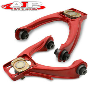 For 96 00 Civic Dx Lx Si Steel Front Upper Alignment Camber Kit Control Arm Red
