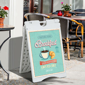 36 Outdoor Weighted Sidewalk Folding A frame Display Curb Sign Poster Holder