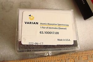 New Varian Atomic Absorption Spectrometer Electrodes Zeeman 63 100017 00