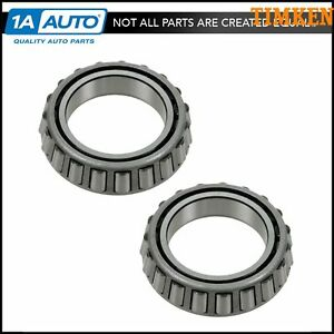 Timken 387as Wheel Inner Bearing Rear Pair Set For Chevy Gmc Ford Pickup Suv Van