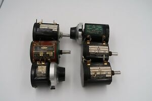 Lot Of 6 Helipot And Spectrol Large Potentiometers