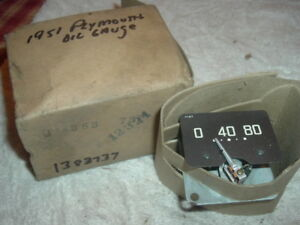 1951 Plymouth Oil Gauge Nos 1383737