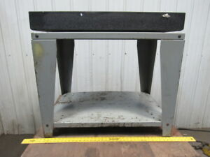 Starrett Grade A 36 X 24 X 4 Black Granite Surface Inspection Plate W stand