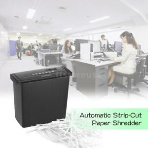 Large Paper Shredder Strip Cross Cut Bin Automatic Home Office Sheet Cutter U9w5
