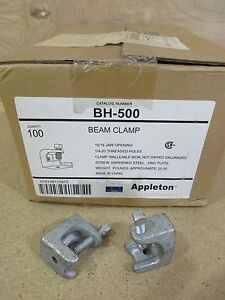 Appleton Bh 500 Beam Clamps Case Of 100 Free Shipping