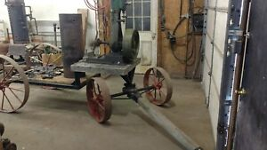 Antique Stationary Steam Engine Steam Boiler Off Grid Power