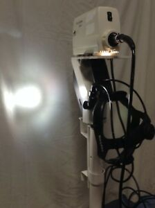 Welch Allyn Solarc Fiber Optic Headlight System With Rolling Pole Very Good Cond