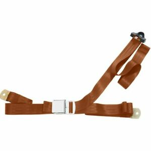 Beams Seat Belt 3 Point Non Retractable Lap Shoulder W Lift Latch Brown 94in