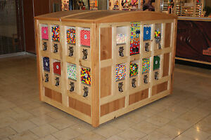Custom Made gumball Candy Hickory Mall Vending Kiosk