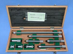 Mitutoyo 2 40 Tubular Inside Micrometer Set Model 137 113