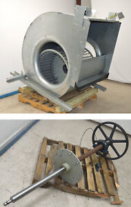 Large Industrial Squirrel Cage Exhaust Blower Fan 74 shaft Belt pulley Ht 55