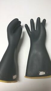 1 Pair 14 Rubber Insulating Lineman Like Gloves Size 10 X lg seconds