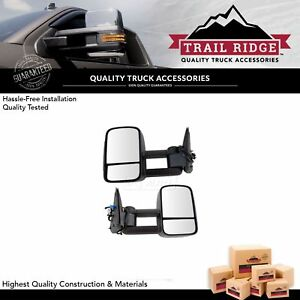 Trail Ridge Tow Mirror Heated Signal Upgrade Power Folding Textured Pair For Gm
