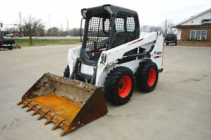 Nice 2015 Bobcat S510 Diesel Skid Steer Only 845 Hours Maintained Tier 4